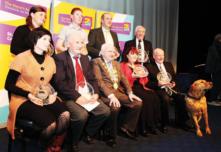 Mayor's Awards winners: Fiona Lawless, Steven Gilligan, Michael Duffy, Michael Grealish, Ruth Fagan, Billy Carr, Mayor Declan McDonnell, Deirdre Dooley and Frank Downes.