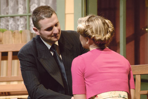 Padraic McDonagh and Miriam Pettit play Judge Brack and Thea Elvsted in KATS' production of Hedda Gabler.