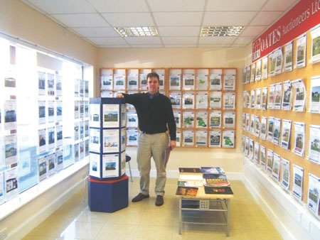 Joe Naughton in the new Oates Auctioneers office at Northgate Street, Athlone