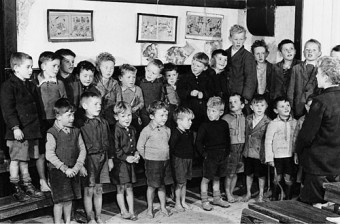 Grass between your toes: barefeet at a rural school in Co Clare in the 1950s.