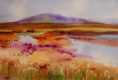 Bog Pools, Autumn by Kenneth Webb.
