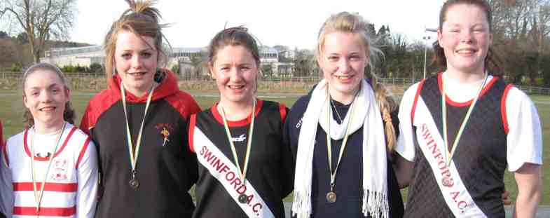 Bronze medal: The Mayo u15 girls team who came third in the All Ireland cross country B championship.