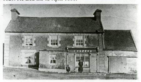 A pint at Peppers: Margaret Mary Pepper, nee Killeen, outside Feakle's famous pub 'Peppers', taken about 1920
