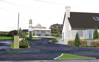 An artist's impression of the new mosque