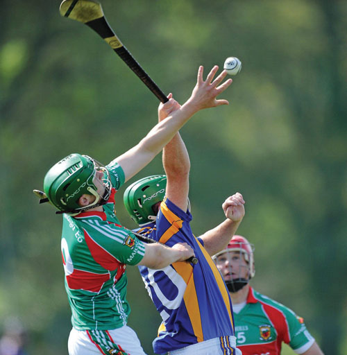 Reaching for glory: Sean Markham rises for the ball against Wicklow last week. Mayo have to beat Down this week or they will be out of the championship on Saturday. Photo: Sportsfile