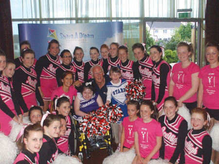 Breda Kevane and Ciara Witheroe join the Tuam-based Ace High Cheerleaders for a day.