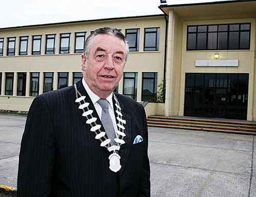 Cllr Conneely pictured after his  re-election to the post of  HSE West regional forum chairman.