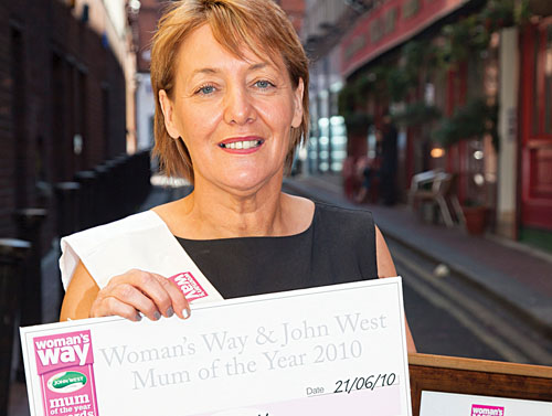 Maureen pictured with her prizes.