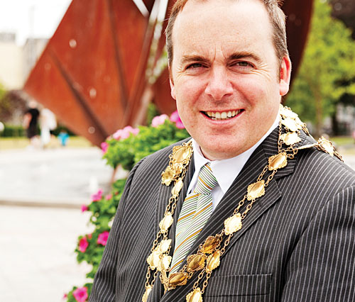Mayor of Galway City, Michael J Crowe. Pic: Reg Gordon