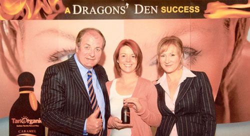 Gavin Duffy  of Dragons Den, pictured with Aoife Marley, Weirs Pharmacy & Opticians, and Noelle O'Connor, Tan Organic founder.