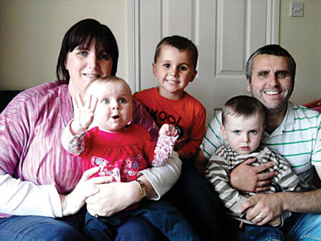 Siobhan and Noel Carroll pictured with their children Noah, Sophie and Eimhin.