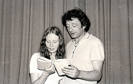 Marie and Mick rehearsing  in 1975