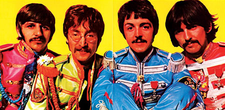 The Beatles in Sgt Pepper mode.
