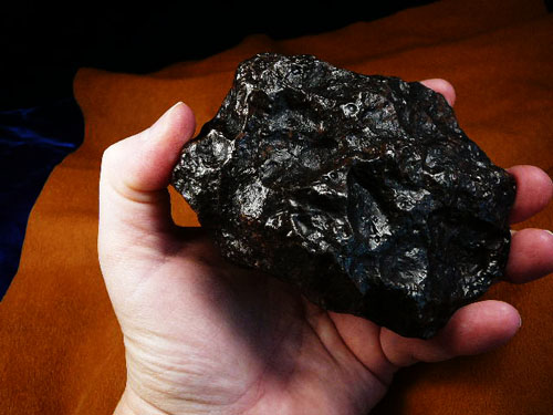 Coal or gold? — the meteorite could be worth a fortune.