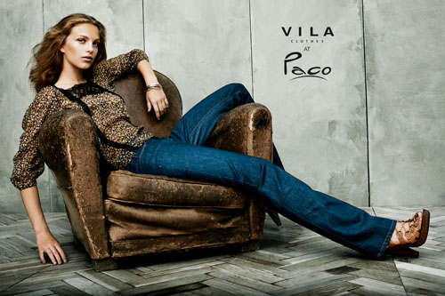 Clover top and Antika jeans by VILA, available at Paco.