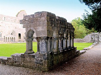 Vanished grandeur: part of the cloisters at Cong Abbey