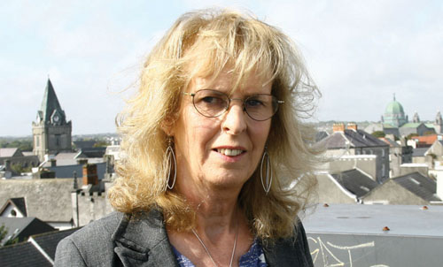 Rita Ann Higgins pictured in Galway this week.  Photo: Mike Shaughnessy