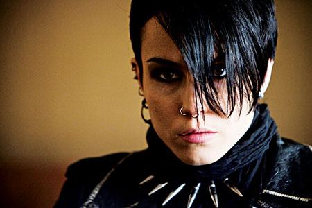 Noomi Rapace as Lisbeth Salander in The Girl With The Dragon Tattoo.