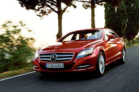 The new four-door CLS coupé is one of six new Mercedes-Benz arrivals due here before the end of 2011.