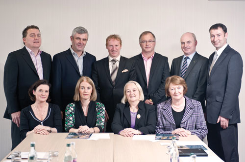 Pictured at the meeting l-r are: Back row, Cllr Ollie Crowe, chairman Padraig O'Ceidigh, Fergus O'Halloran - The Twelve, Owen Hughes – Portwest, Peter Hynes – Mayo county manager, Darren Madden – Clew Bay Hotel, Westport. Front Row: Bernadette Mullarkey – Bane & Mullarkey consultants, Fiona Monaghan – Failte Ireland West, Martina Moloney – Galway county manager and Brenda McTigue – B&B Ireland.