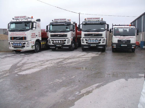 The Galway Stone fleet — ready to deliver your stone requirements to your door.