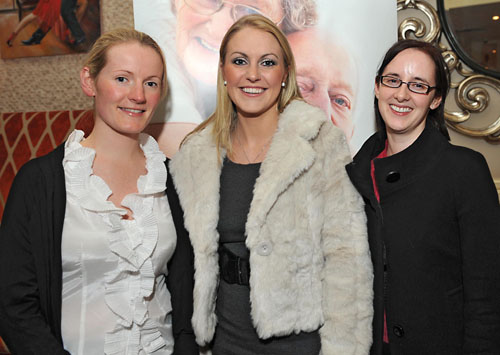 Noelle McCourt, Orantown Dental Centre, with Mary Owens and Paula McDermot, Eyre Square Dental Clinic, at a reception to promote a health awareness campaign for implant supported 'overdentures' to help people with loose bottom dentures, which was held in the House Hotel on Wednesday evening. Photo: Joe Travers.