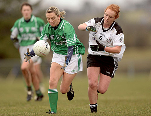 Danger up front: Caltra will be looking to their camogie All Star Orla Kilkenny to cause problems for  St Enda's Clodagh Mullin when the two meet again in Saturday's All Ireland Junior Championship final replay on Saturday.