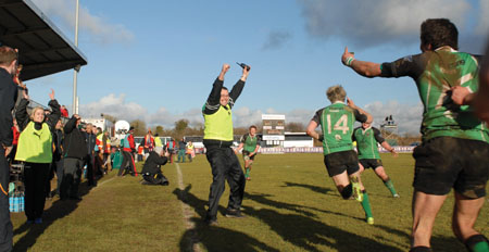 Dubarry Park played host to the AIB club finals. City of Derry players are seen here celebrating a last gasp winner.