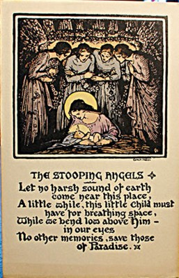 The Stooping Angles, by Lady Glenavy, another striking image from Cuala Press. After the death of the Yeats sisters the press was taken up by W.B Yeats' children Michael and Anne. It continued until the 1970s.