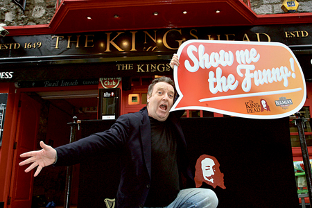 Show Me The Funny MC Gerry Mallon.  Pic:- Mike Shaughnessy