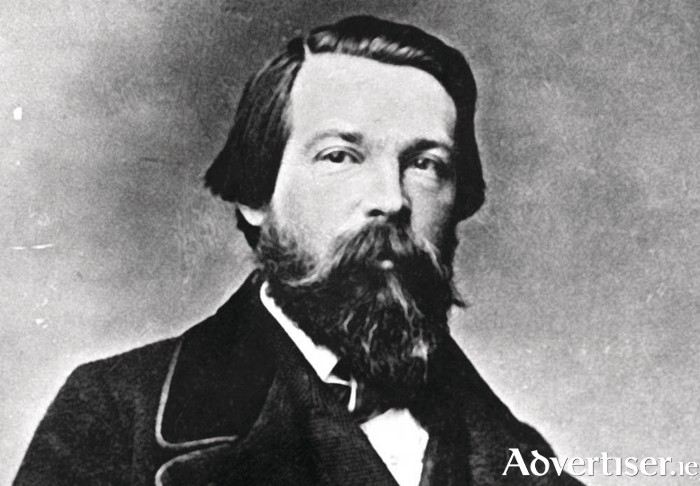 Friedrich-Engels in 1860, four years after his journey to Galway and Ireland.