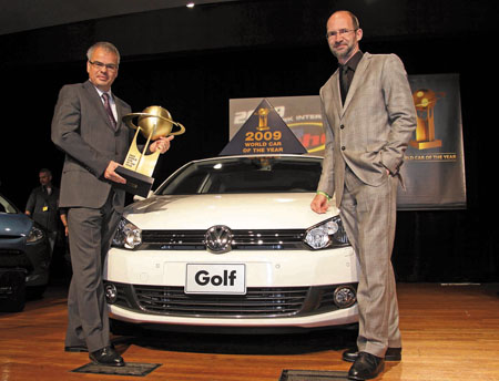 Pictured is the new Volkswagen V1 Golf , the 2009 World Car of the Year, from which the new car based Golf Van is derived. It has just been announced as the Continental Irish Car-Derived Van of the Year 2011.
