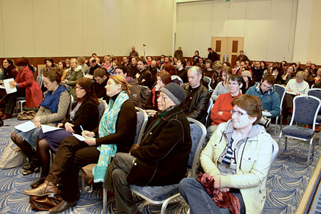 A selection of the audience at Monday's arts husting in the Radisson Blu hotel. Photo: Mike Shaughnessy.