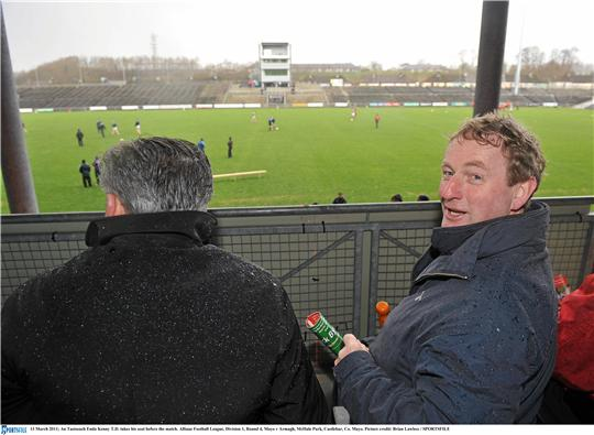 Even the presence of An Taoiseach, Enda Kenny TD in McHale Park wasn't enough to help Mayo beat Armagh in the National Football League. Photo:Sportsfile