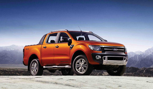 Picture features the stunning top of the range Wildtrak version all-new Ford Ranger