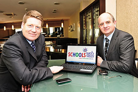 Paddy Tamplin and Jeremy Pagden who set up Schools Websites providing specialist website and content management systems for schools nationwide. Photo: Boyd Challenger
