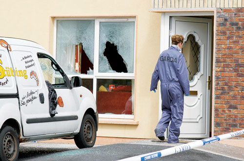 The scene of the shooting in Athenry. Pic: Hany Marzouk