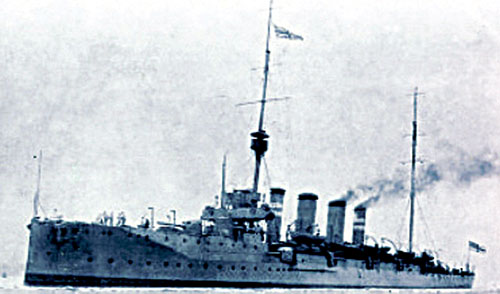 The HMS Gloucester, whose guns opened fire on the Galway coastline and further inland creating panic.