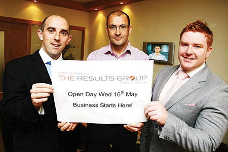 Alan Daly, Patrick Brennan and Stephen Higgins from The Results Group.