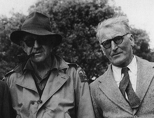 Two Irish rebels - John Ford and Ernie O'Malley on the set of  The Quiet Man in Cong 1952.