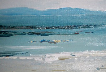 Beach at Furbo by Margaret Clayton.