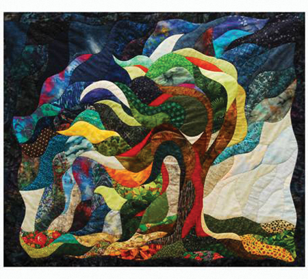 After the Storm quilt made by Mary Madden of the Octagon Quilters