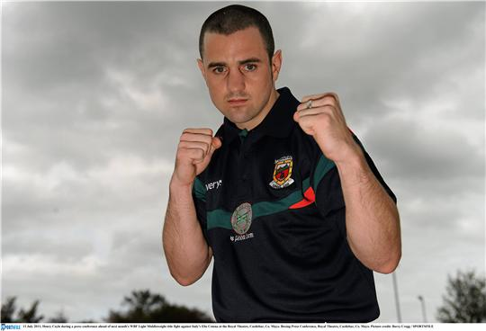 Ready for action: Henry 'The Western Warrior' Coyle at the press conference to announce his World title fight in Castlebar next month. Photo:Sportsfile