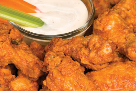 Suede chicken wings are a must try!