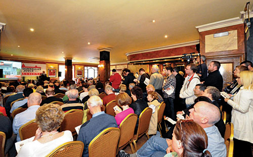 The crowd at a recent O'Donnellan & Joyce auction.
