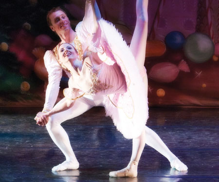 Judith Sibley performing the role of the Sugar Plum Fairy