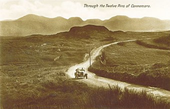 Travelling through Connemara in style at the beginning of the last century.