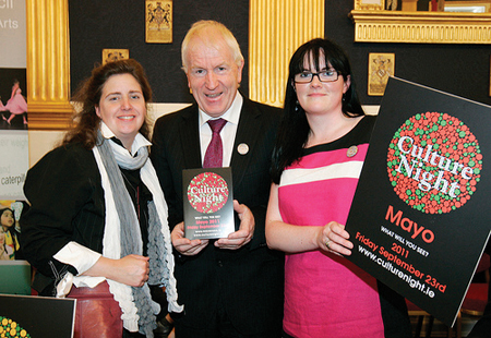 Culture Night National Launch - Sinead McCoole Jackie Clarke Collection, Minister for Arts, Heritage & the Gaeltacht Jimmy Deenihan & Ann Marie McGing Mayo County Council Arts Office.
