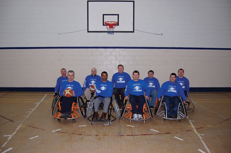The Titan Wheelers, part of the Titan's Basketball Club.