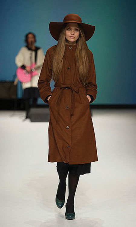 Brown trench available from Sirona boutique.
